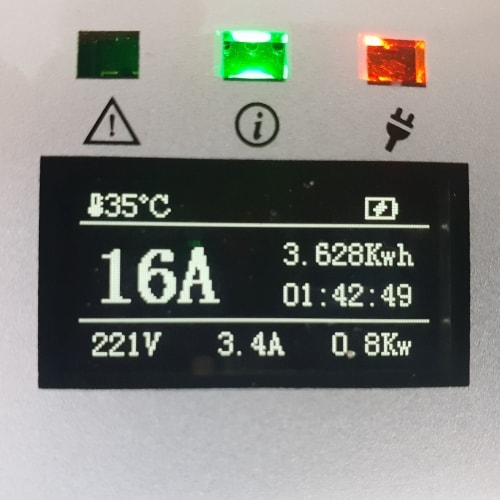 3-EV EVSE Type2 (max. 16A) Tilapäislatauskaapeli