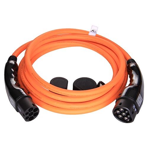 1-EV Type2 -> Type2 orange (3x32A) Sähköauton latauskaapeli